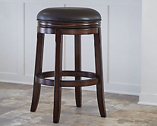 Porter Bar Height Bar Stool, Rustic Brown, rollover
