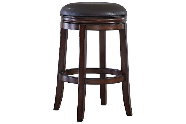 Porter Bar Height Bar Stool, Rustic Brown, large