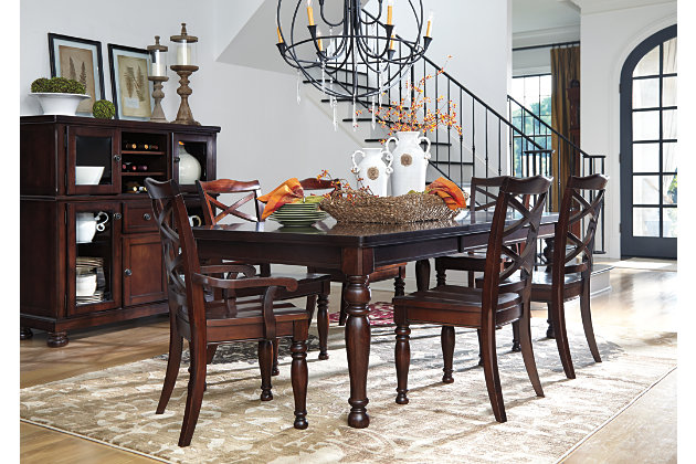 Rustic Brown Porter Dining Room Table View 9