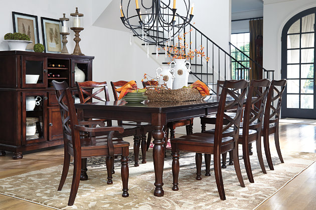 porter dining room table ashley furniture home store. Black Bedroom Furniture Sets. Home Design Ideas