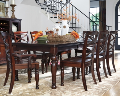 Dining Set Rustic Brown Piece Product Photo 593
