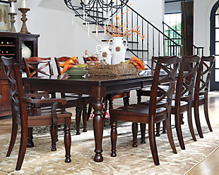 ... large Porter Dining Room Table  rollover : dining table set ashley furniture - pezcame.com