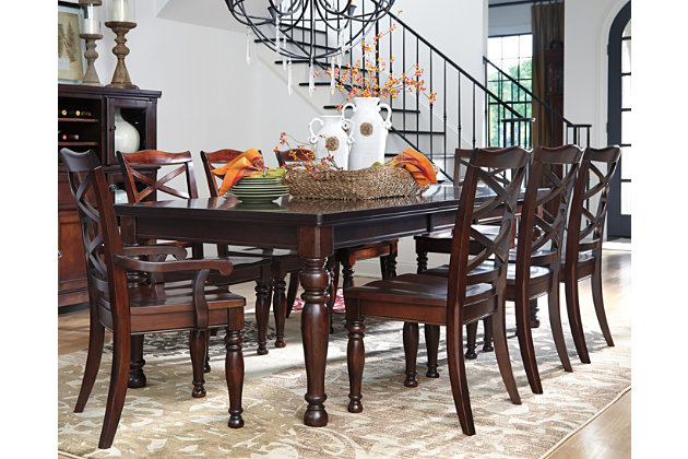 Porter Dining Room Table, Rustic Brown, Large ...