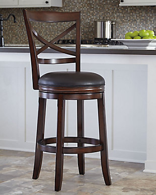 Fabulous Porter Bar Height Bar Stool Ashley Furniture Homestore Short Links Chair Design For Home Short Linksinfo