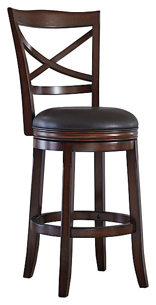 Porter Bar Height Bar Stool, Rustic Brown, large