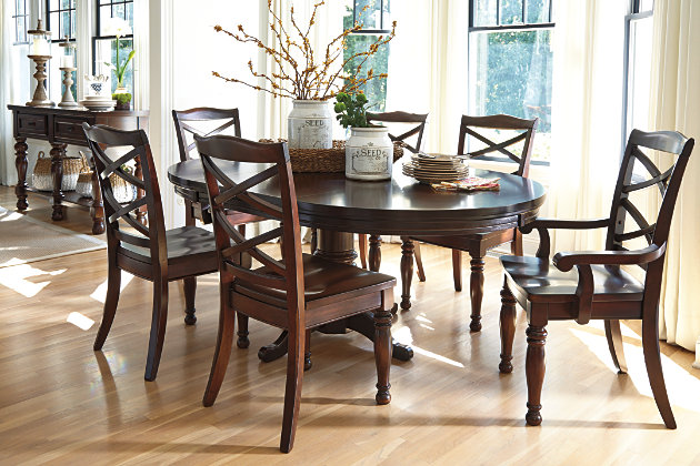 Porter Oval Dining Room Table Ashley Furniture HomeStore - Ashley furniture high top table