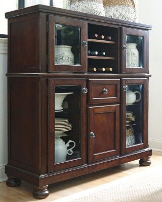 Ashley Porter Dining Room Server, Rustic Brown