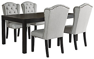 Jeanette Dining Table and 4 Chairs, , large