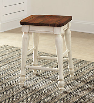 Marsilona Single Counter Height Bar Stool, Two-tone, rollover