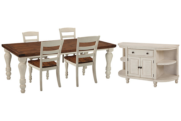 Marsilona Dining Table and 4 Chairs with Storage, , large