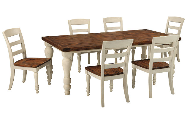 Marsilona Dining Table and 6 Chairs Set