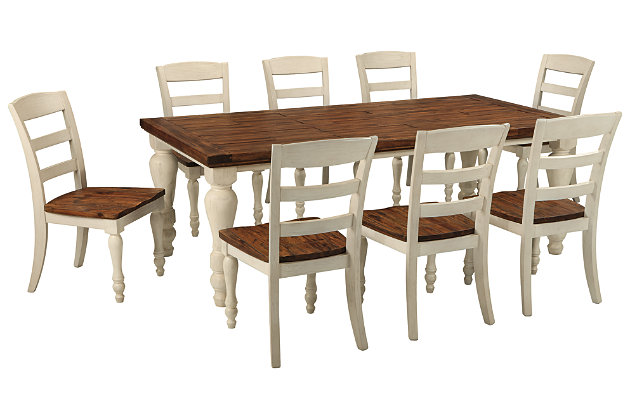Marsilona Dining Table And 8 Chairs Set Ashley Furniture Homestore