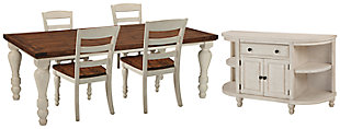 Marsilona Dining Table and 4 Chairs with Storage, , rollover