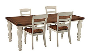 Marsilona 5-Piece Dining Set ...  sc 1 st  Ashley Furniture HomeStore : round table dining set for 4 - Pezcame.Com