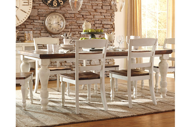 Farmhouse Table Dining Room Furniture Compare Prices  : D712 25 10x8 CROPAFHS PDP Main from www.nextag.com size 630 x 420 jpeg 77kB