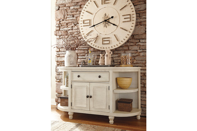 marsilona casual white wood dining room buffet server - Dining Room Server Furniture