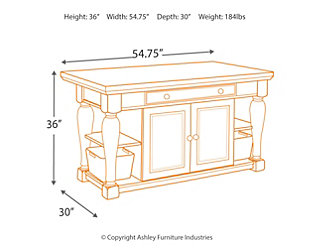 Marsilona Kitchen Island Large