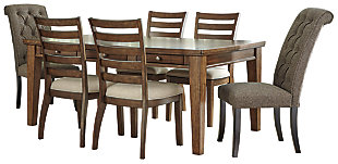 Flynnter Dining Table and 6 Chairs, , large
