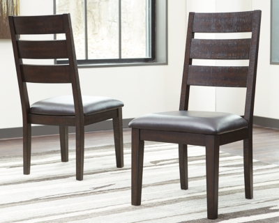 Ashley Parlone Dining Room Chair (Set of 2), Dark Brown L...
