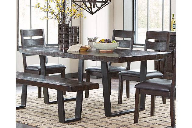 parlone dining room table ashley furniture homestore. Black Bedroom Furniture Sets. Home Design Ideas