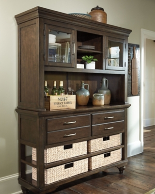 Hutch Dark Brown Buffet Product Photo 593