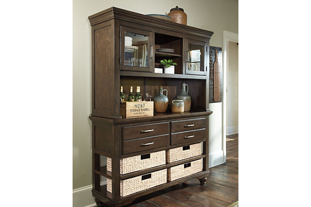 Brossling Buffet And Hutch Ashley Furniture Homestore