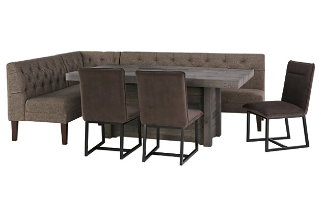 Tripton Corner Dining Room Bench | Ashley Furniture HomeStore