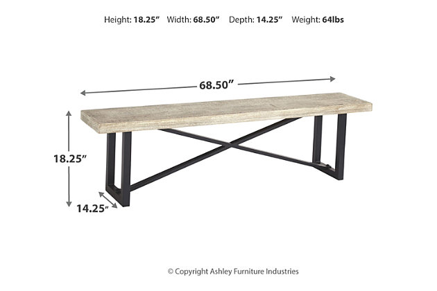 Halamay Dining Room Bench, , large
