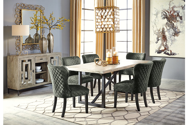 Halamay Dining Room Table Ashley Furniture Homestore