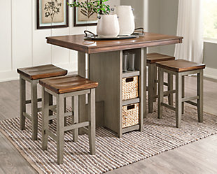 Lettner Counter Height Dining Table and Bar Stools (Set of 5), , rollover