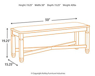 Tyler Creek Dining Bench, , large