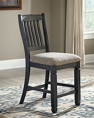 Tyler Creek Counter Height Bar Stool, Black/Grayish Brown, rollover