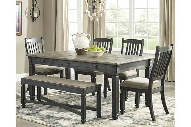 Tyler Creek Dining Table and 4 Chairs and Bench, , large