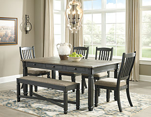 Tyler Creek 6-Piece Dining Room, , large
