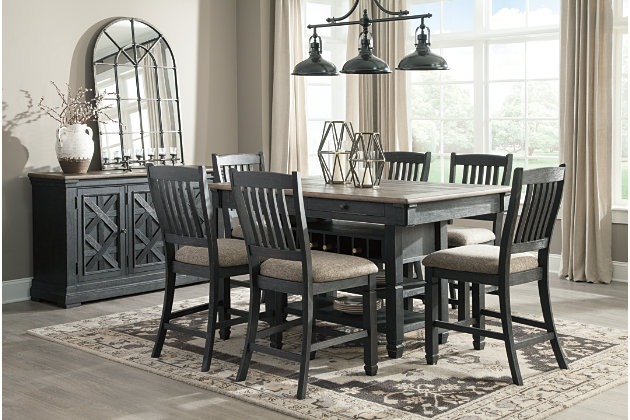 Tyler Creek Counter Height Bar Stool, Black/Grayish Brown, large