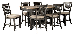 Tyler Creek Counter Height Dining Table and 6 Barstools, , large