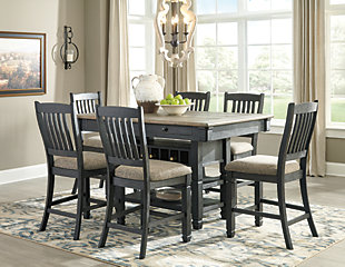 Tyler Creek Counter Height Dining Table and 6 Barstools, , rollover