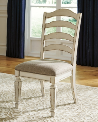 Signature Design By Ashley Realyn Upholstered Swivel Stool Chipped White