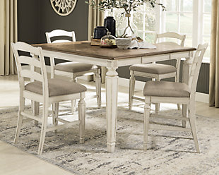 Realyn Counter Height Dining Table and 4 Barstools, , rollover