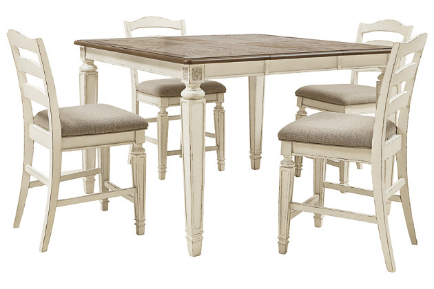 Realyn Counter Height Dining Table and 4 Barstools, , large