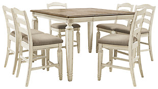 Realyn Counter Height Dining Table and 6 Barstools, , large