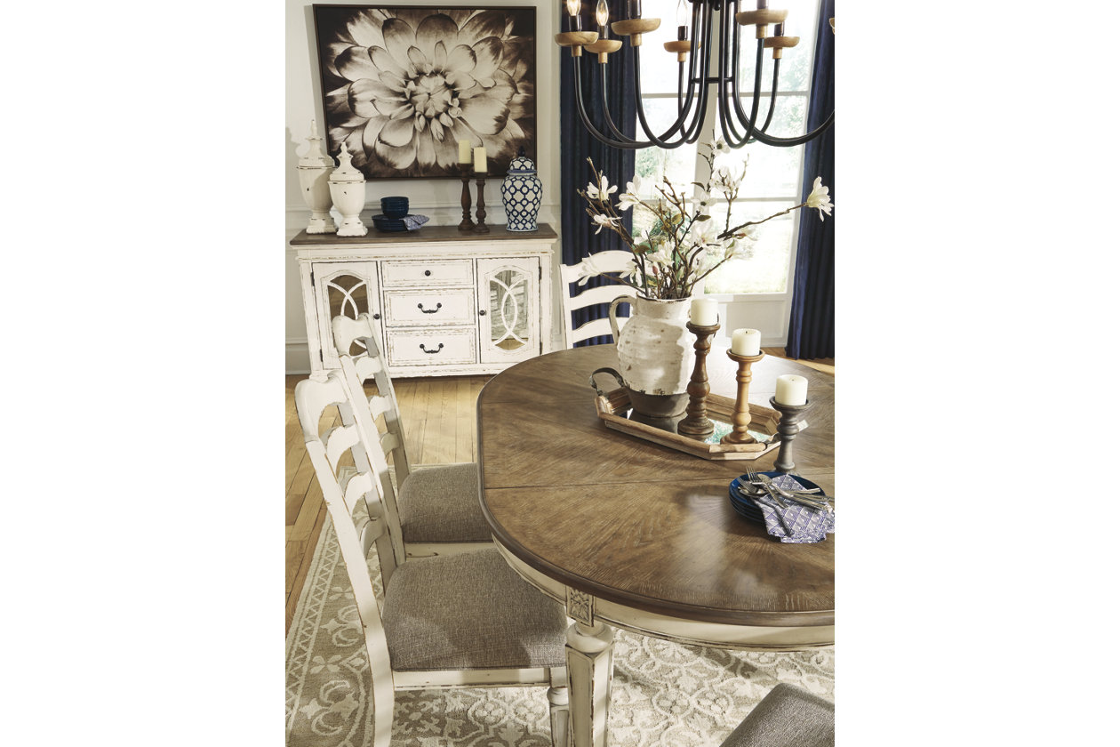 Realyn Extendable Dining Table Ashley, Ashley Furniture Realyn Dining Room Server
