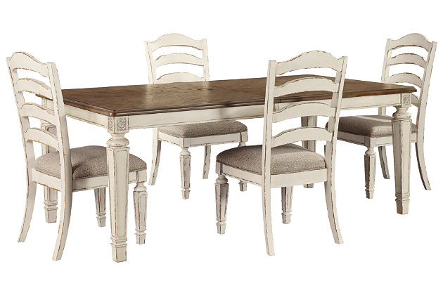 Realyn Dining Table and 4 Chairs, , large