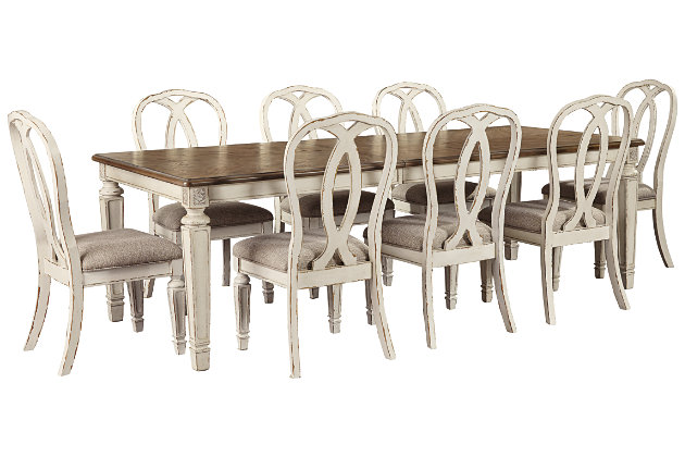 Realyn Dining Table And 8 Chairs Set Ashley Furniture Homestore