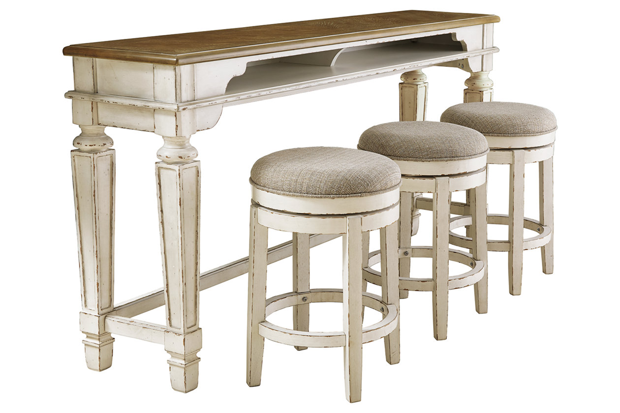 Realyn Counter Height Dining Table and 9 Barstools Set   Ashley ...