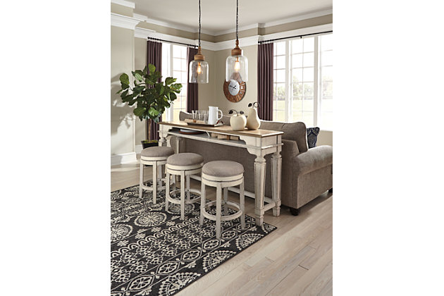 Realyn Counter Height Dining Table and 3 Barstools, , large
