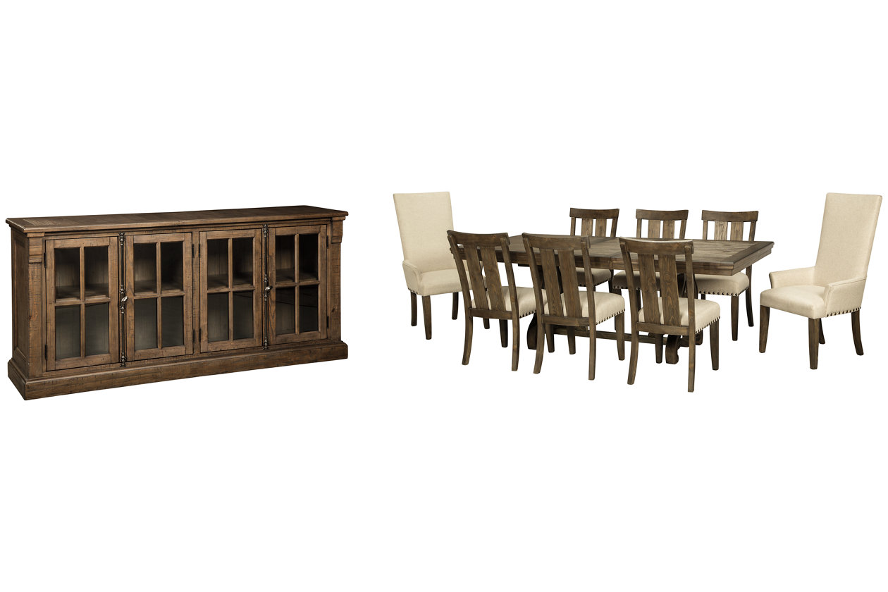 Wendota Dining Table And 8 Chairs With Storage Set Ashley Furniture Homestore
