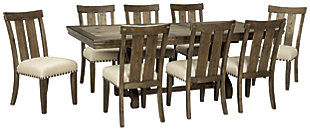 Wendota Dining Table and 8 Chairs, , large
