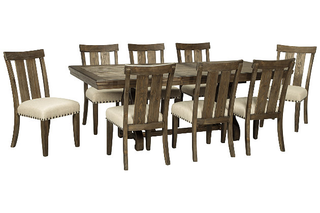 Wendota Dining Table And 8 Chairs Set Ashley Furniture Homestore