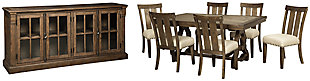 Wendota Dining Table and 6 Chairs with Storage, , large